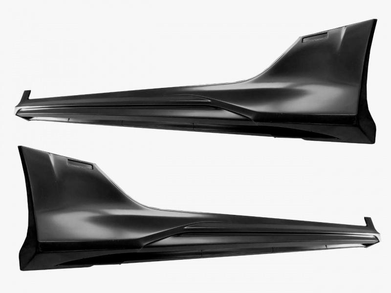 Накладки на пороги (без покраски) YurolTuning XR-01.05.00 Lada Vesta седан SW 2015 -