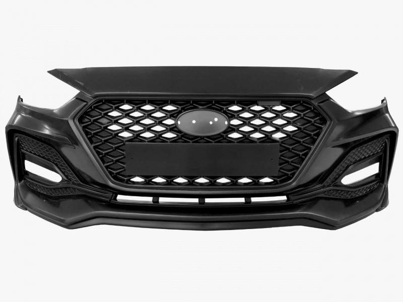 Бампер передний (без покраски) YurolTuning SQ 01.02.00 Hyundai Solaris 2 2017 -