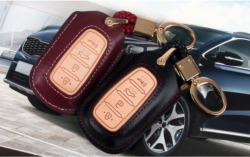 Чехол для ключа (кожа) для Санта Фе 4 (Hyundai Santa Fe 2018 - 2019) чехол для ключа силиконовый разные цвета эмблема hyundai chn для санта фе 4 hyundai santa fe 2015 2018