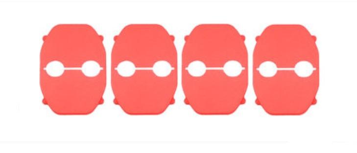 Накладка на дверной замок (красная) Toyota RAV4 2019-