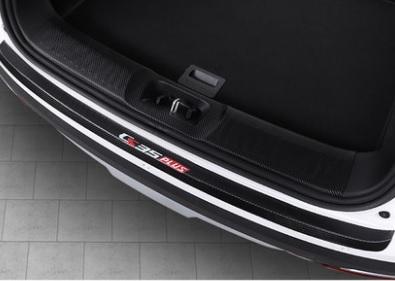Фото - Комплект накладок на порог багажника для Changan CS35 Plus 2019- коврик для багажника черный с красным 2 элемента для changan cs35 plus 2019