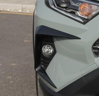 Накладки на фары (черные) Toyota RAV4 2019-