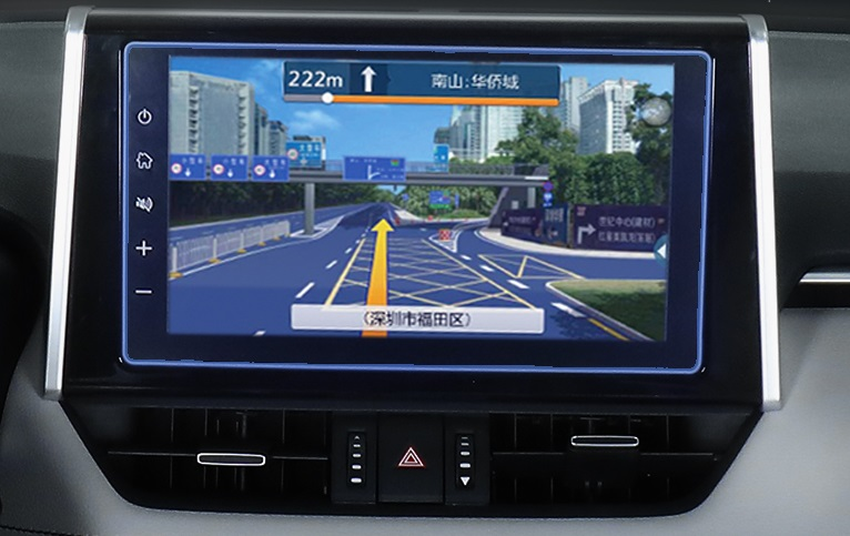 Закаленная пленка на навигатор Toyota RAV4 2019-
