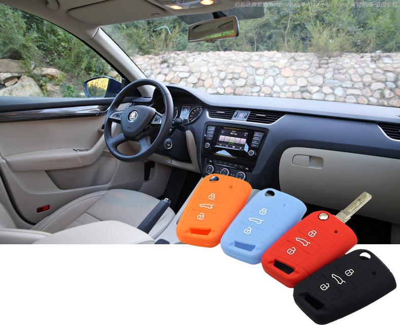 Фото - Чехол для ключа силиконовый для Skoda Octavia 2017 - чехол силиконовый для ключа polo sedan