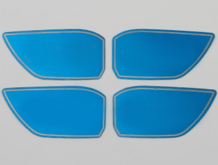 Наклейки в дверные ниши (синие) Honda CRV 2020- распашные шкафы 4 дверные