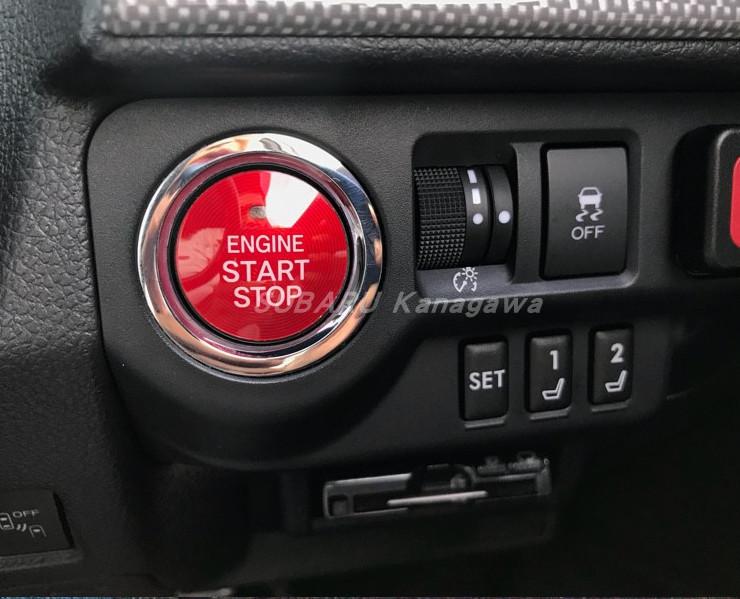 Накладка на кнопку запуска двигателя (красная) для Subaru Forester 2018 - 2019 модуль дистанционного запуска двигателя intro can asb2