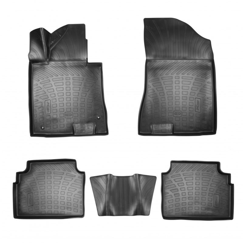 Коврики в салон Hyundai/Kia резина черный R8130L2100 Kia K5 (3G) 2020- коврики в салон hyundai kia велюр черный a2143ade00st kia ceed 3g 2018