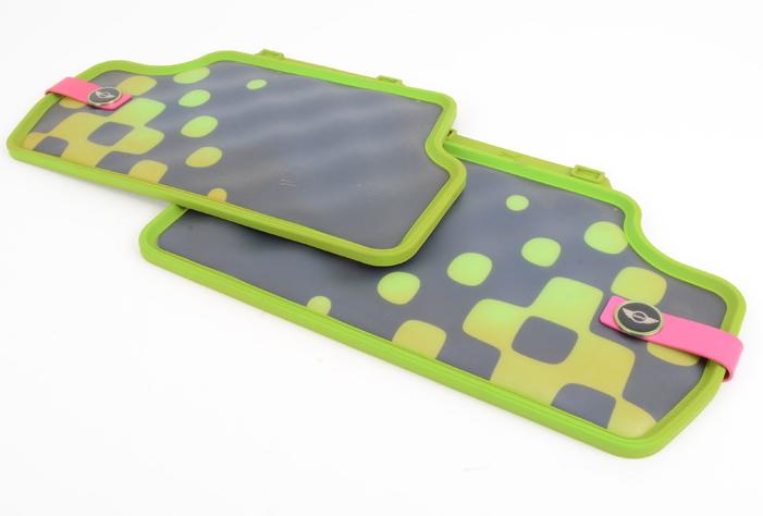 Коврики в салон задние Mini резина зеленый 51472354165 Mini Cooper 2015- коврики в салон передние mini велюр синяя клетка 51472354172 mini cooper 2015