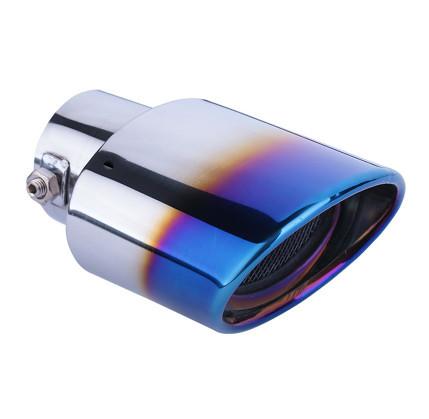 Фото - Одинарная насадка на выхлопную трубу (хром / обожженый металл) 45644 для Haval F7 (Хавал Ф7) 2018, 2019, 2020 одинарная насадка на выхлопную трубу цвет хром обожженый металл chn 45644 для haval f7 хавал ф7 2018 2019 2020