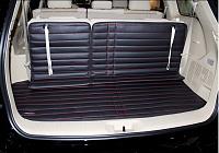 3D обшивка в багажник с нахлестом на сиденья для Hyundai Grand Santa Fe (2012 - 2018) расширители колесных арок хром для hyundai grand santa fe 2012 2018