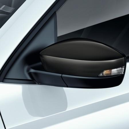 Накладки на боковые зеркала (черные) 6V0072530A для Skoda Rapid 2020 -