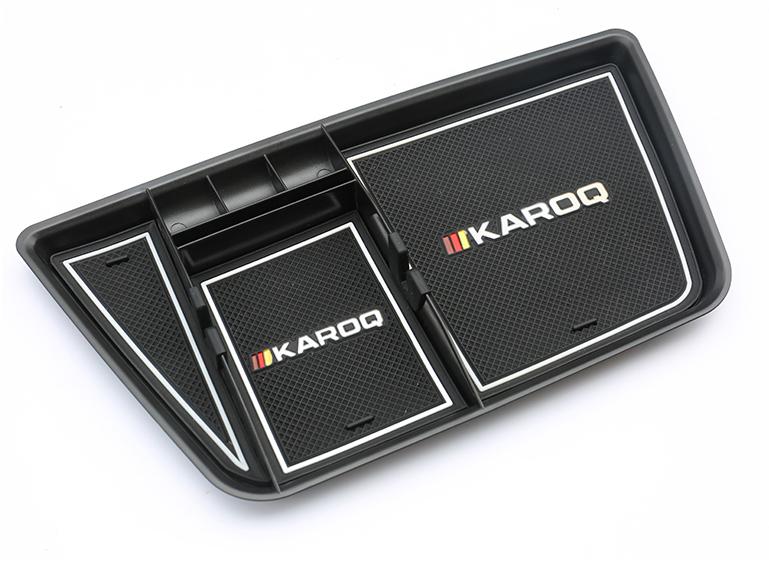 Ящик для мелочей на торпеду Skoda Karoq 2020 (Шкода Карок) защита на 2 й ряд цвет черный коричневый надпись karoq chn skoda karoq 2020 шкода карок