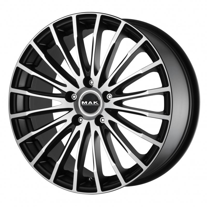 Диск колесный MAK Fatale 7,5xR17 5x112 ET43 ЦО76 черный матовый с полированной лицевой частью F7570FAIB43VK