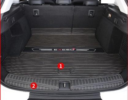 Коврики в багажник 2 элемента (черный) CHERYEXEED TXL 2020-