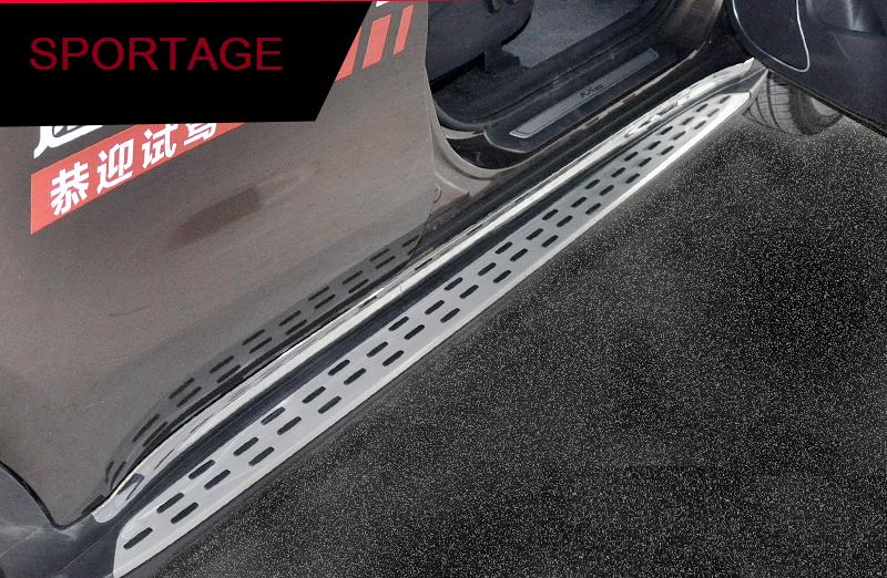 боковые подножки пороги bmw style алюминий rival d193al 5805 1 для volkswagen teramont 2017 Пороги, боковые подножки OEM Style для KIA Sportage IV 2016 -