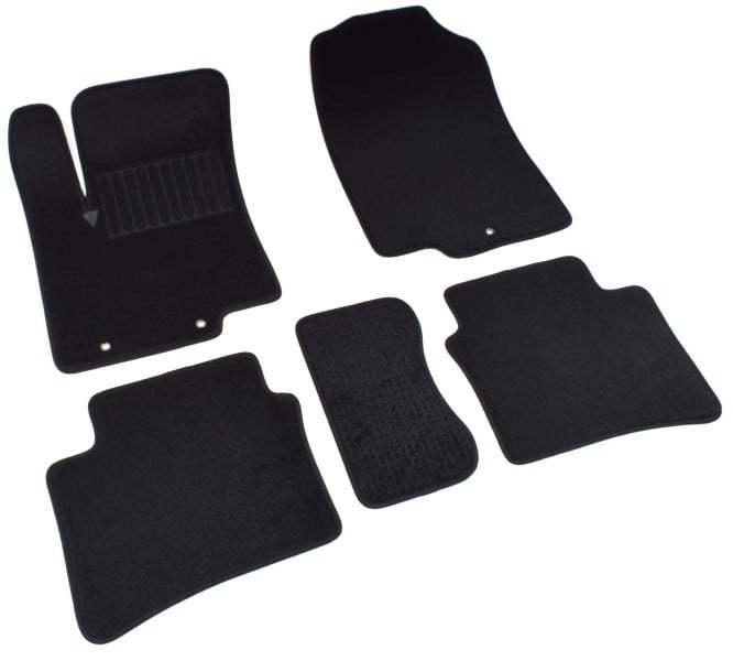 Коврики салона текстильные, чёрные SV-Design 2430-UNF3-15M для Hyundai Solaris 2011- коврики салона текстильные 3d чёрные seintex 87324 для lada vesta 2015