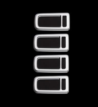 Накладки на потолочные светильники (серебро) для GAC Trumpchi GS8 2018, 2019, 2020 накладки на внешние дверные ручки разные цвета chn для gac trumpchi gs8 2018 2019 2020