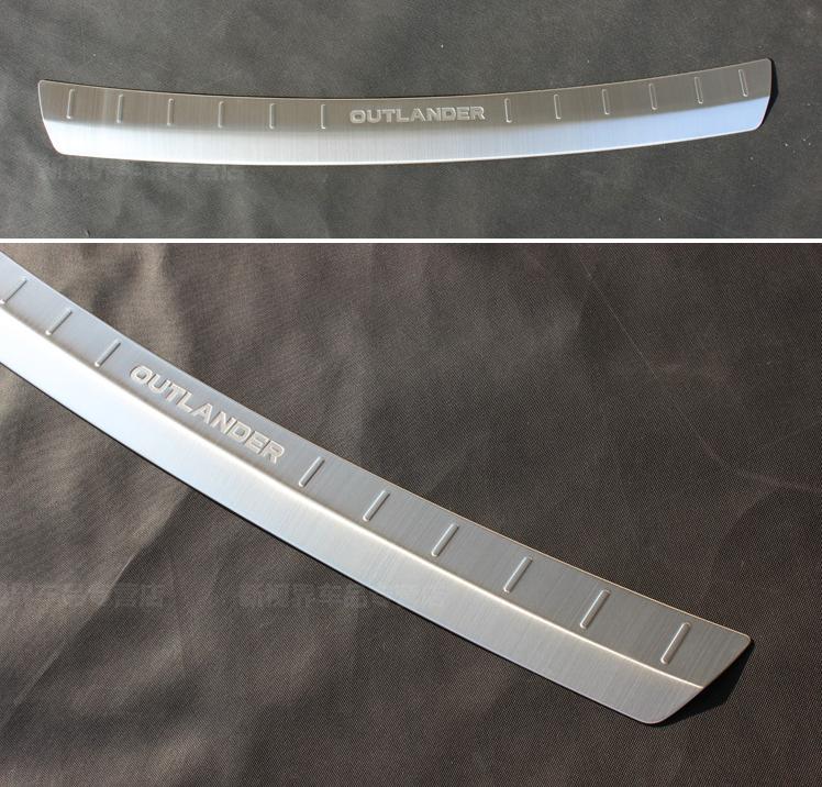 накладка на порог багажника и задний бампер нержавеющая сталь для mitsubishi outlander 3 2011 2014 Защитная накладка на задний бампер с загибом для Mitsubishi OUTLANDER 2015 -