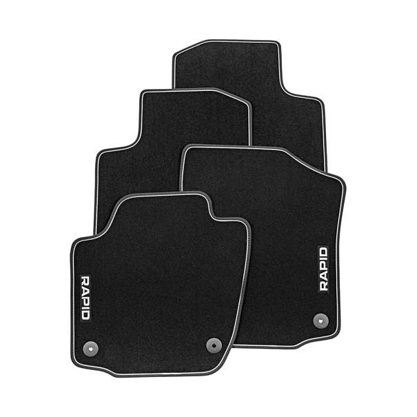Коврики в салон Skoda Велюр черный 5JB061404D Skoda Rapid (2G) 2020- коврики в салон 3d для skoda yeti 2014