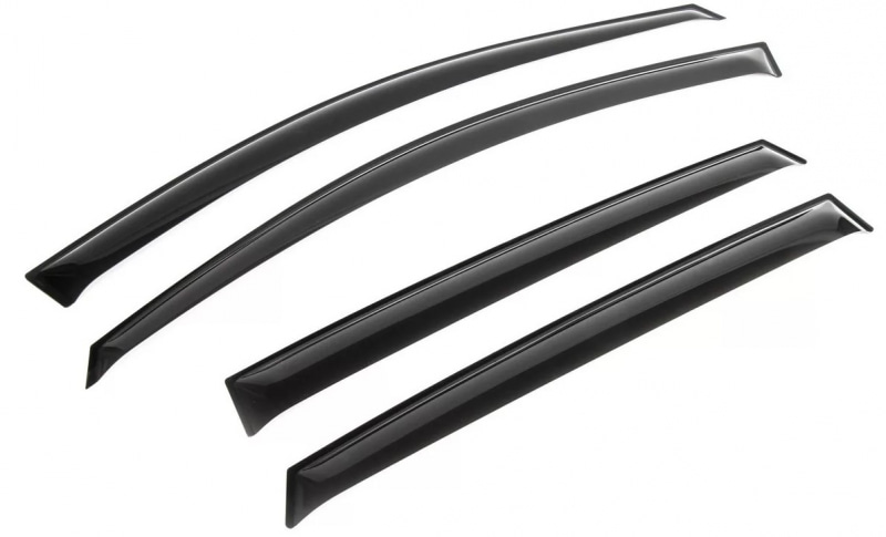 Фото - Дефлекторы окон (листовой ПММА, черный) Rival 32305004 Hyundai Solaris 2010 - 2017 дефлекторы окон хендай солярис 2020 hyundai solaris