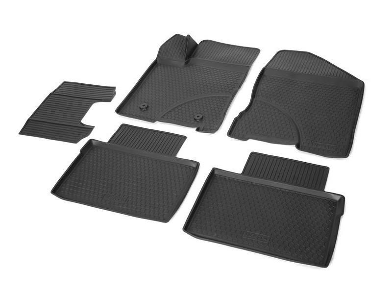 Фото - Коврики салона (полиуретан), чёрные Rival 16006001 для LADA Vesta 2015- коврики салона rival для suzuki grand vitara внедорожник 5 дв 2012 2015 полиуретан 15501001
