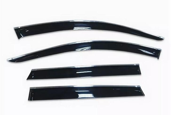 Фото - Дефлекторы окон с хром молдингом EURO Cobra Tuning для Hyundai I30 2011 - дефлекторы окон с хром молдингом cobra tuning hyundai santa fe 4g 2018