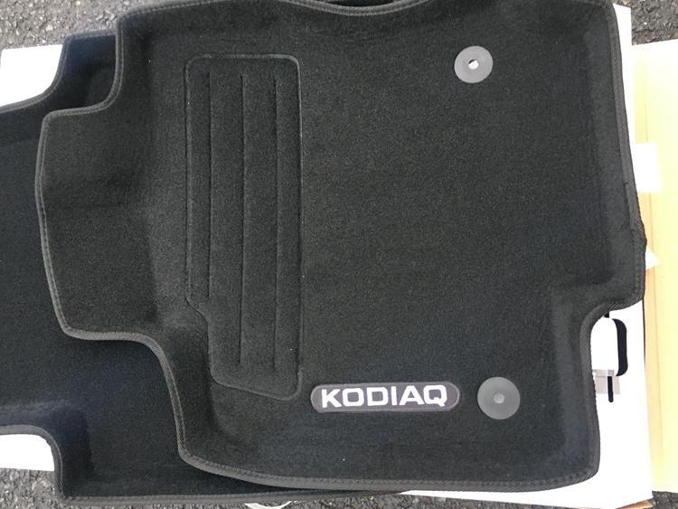 3D коврики в салон ворсовые Original part Skoda Kodiaq 2017- коврики в салон 3d кожаные для skoda kodiaq 2017 по н в