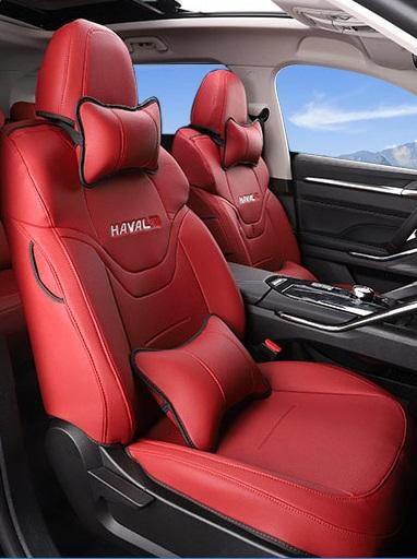 Чехлы на сидения (с подушками, красные) Haval H6 2021-