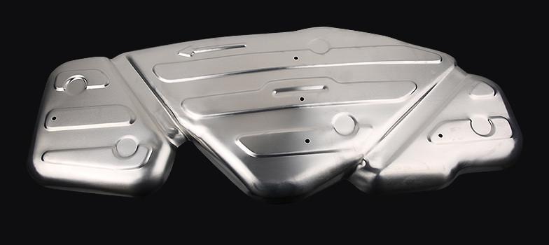 Защита топливного бака (алюминий) CHN для Geely Atlas 2018 - защита топливного бака комплект крепежа rival сталь v 2 0 2 4 для geely atlas 2018