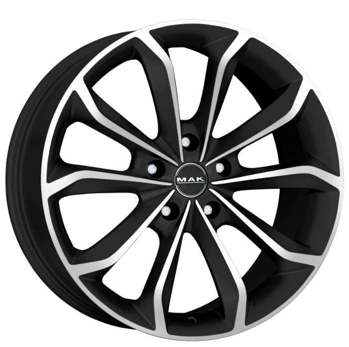 Диск колесный MAK Xenon 8,5xR20 5x108 ET45 ЦО72 черный матовый с полированной лицевой частью F8520XEIB45GG3