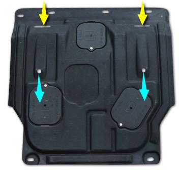 Защита картера двигатели и кпп, стальная c технологическими лючками для Lifan MyWay 2017 - недорого
