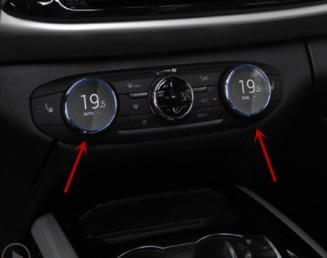 Наклейки на кнопки кондиционера CHERYEXEED TXL 2020-