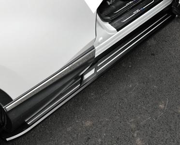 боковые подножки пороги bmw style алюминий rival d193al 5805 1 для volkswagen teramont 2017 Пороги боковые (алюминий) для Honda C-RV 2017-