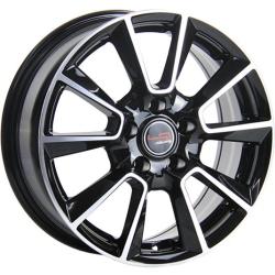 Диск колесный LegeArtis Реплика Concept-SK501 6.5xR16 5x112 ET46 ЦО57.1 черный глянцевый с полированной лицевой частью 9172947 недорого