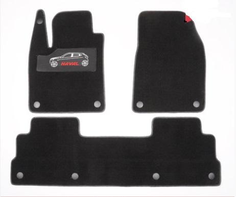 Коврики в салон (полиуретан, черные) Haval H6 2021- коврики в багажник 8 элементов полиуретан серые с черным haval h6 2021