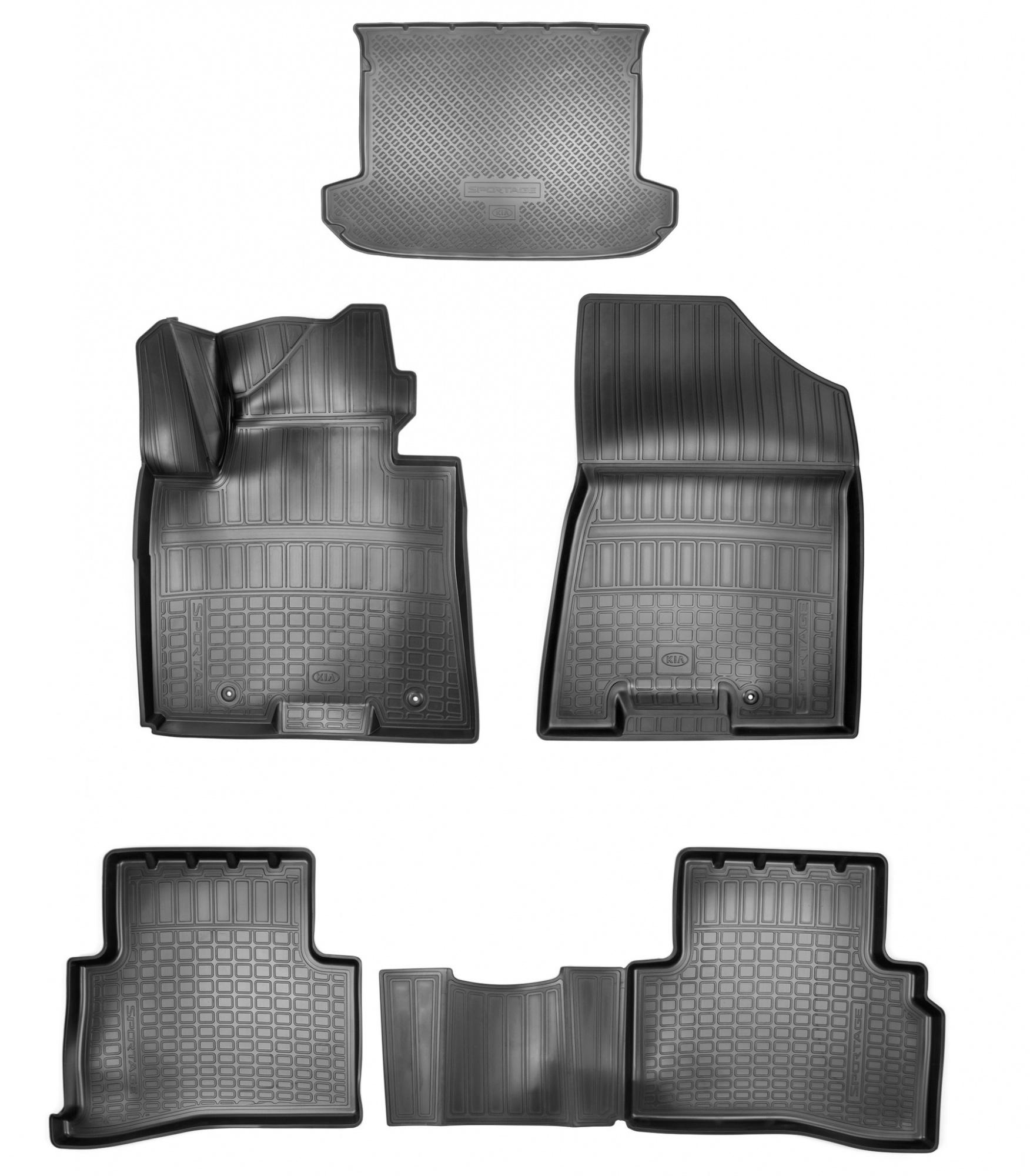 Коврики в багажник Hyundai/Kia полиуретан серый R8130D7100P Hyundai Tucson (3G) TL рест. 2018-