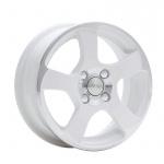 Диск колесный СКАД Акула 5.5xR14 4x100 ET35 ЦО67.1 белый с полированной лицевой частью 1330124