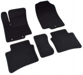 Коврики салона текстильные, чёрные SV-Design 2430-UNF3-15M для Hyundai Solaris 2011-