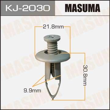 Клипса автомобильная (автокрепеж) салонная серая, уп. 50 шт. Masuma KJ-2030