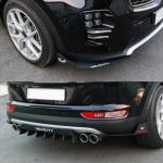 Задний диффузор + элероны - KIA The SUV Sportage (MORRIS) для KIA Sportage IV 2016 -
