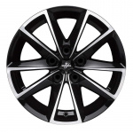 Диск колесный Fondmetal 7 600 7.5xR17 5x100 ET35 ЦО67.2 глянцевый чёрный с обработкой 7600 7517355100ZNA2