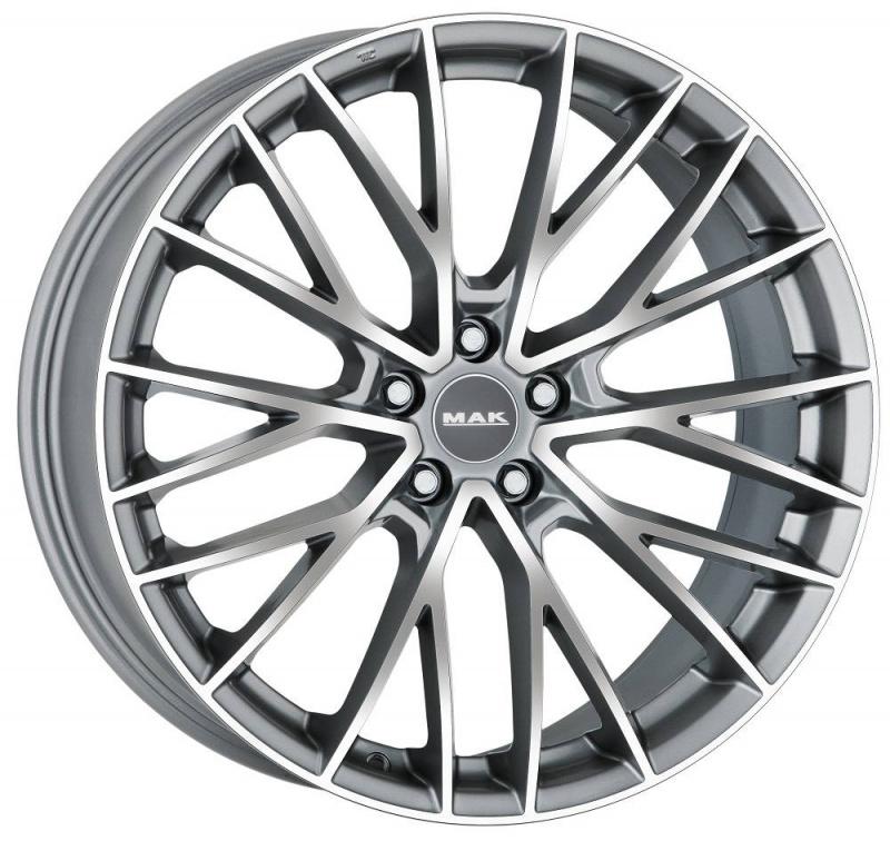 Диск колесный MAK Speciale 8,5xR20 5x108 ET45 ЦО63,4 серый с полированной лицевой частью F8520ECHM45GD3X