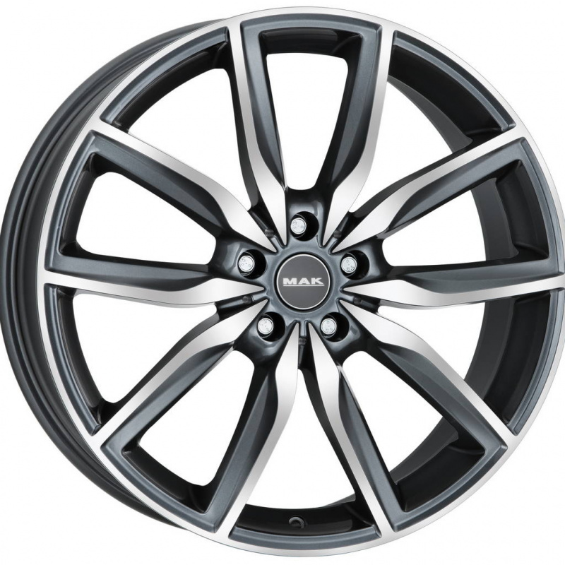 Диск колесный MAK Allianz 8,5xR19 5x112 ET40 ЦО66,6 серый с полированной лицевой частью F8590AZQM40WS2X