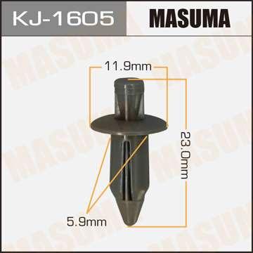 Клипса автомобильная (автокрепеж), уп. 50 шт. Masuma KJ-1605