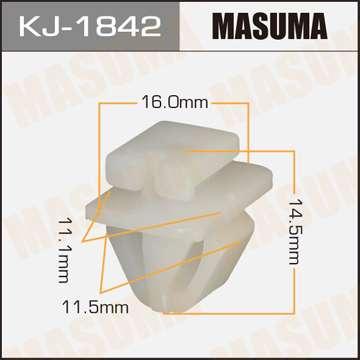 Клипса автомобильная (автокрепеж), уп. 50 шт. Masuma KJ-1842