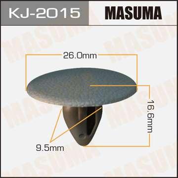 Клипса автомобильная (автокрепеж) салонная темно-серая, уп. 50 шт. Masuma KJ-2015