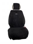 Чехол на передние сиденья из алькантары Kertex Black&Red 2