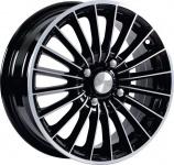 Диск колесный СКАД Веритас 6xR15 4x100 ET46 ЦО54.1 чёрный глянцевый с полированной лицевой частью 0621905