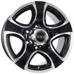 Диск колесный Tech-Line 622 7,5xR16 5x139,7 ET10 ЦО108 чёрный с полированной лицевой частью rd830666