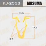 Клипса автомобильная (автокрепеж), уп. 50 шт. Masuma KJ-2553